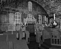 Innenraum der Synagoge Bechhofen (Standfoto aus der Visualisierung)